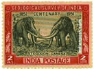 EXTINCT STEGODON GANESA 0334 Indian Post
