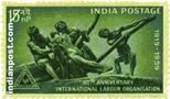 THE TRIUMPH OF LABOUR 0423 Indian Post