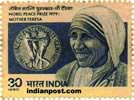 MOTHER TERESA & NOBEL PRIZE 0977 Indian Post