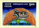 50 YEARS OF FOOD & AGRICULTURE ORGANISAT 1640 Indian Post