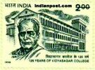 125 YEARS OF VIDYASAGAR COLLEGE 1801 Indian Post